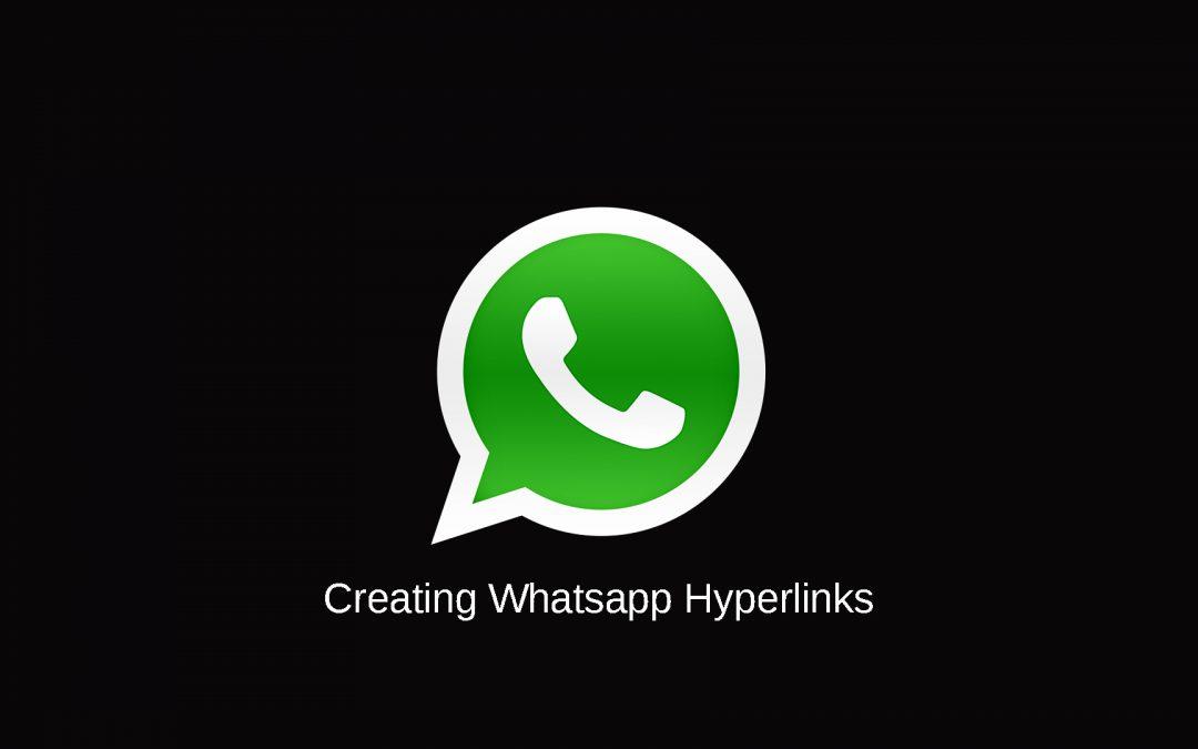 Creating Whatsapp Hyperlinks